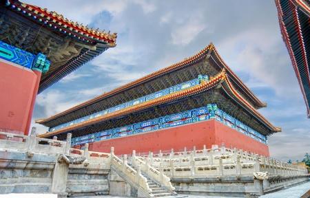 Forbidden City buildings located in Beijing, China Редакционное
