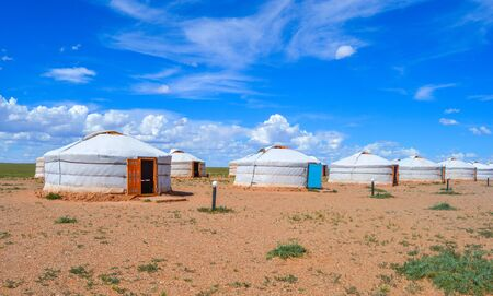Traditional Mongolian Gers are used for Tourists to experience the life of a Mongolian nomad.