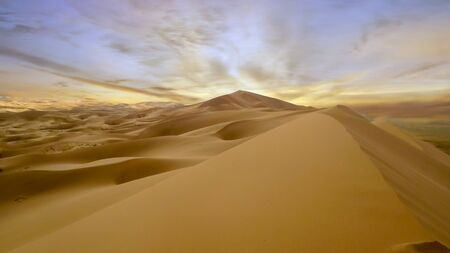 Once you climb to the top of the Gobi Sand Dunes, you are rewarded with this amazing scenery.