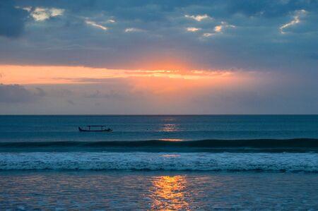 Golden SunsGolden Sunset On the Beach In Kuta Beach, Baliet On the Beach In Kuta Bali