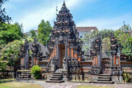 Stupas and Park In Kuta Beach Bali, Indonesia Stock Photo