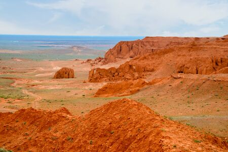 Mongolia is a major location for dinosaur fossils recovered at the flaming cliffs.