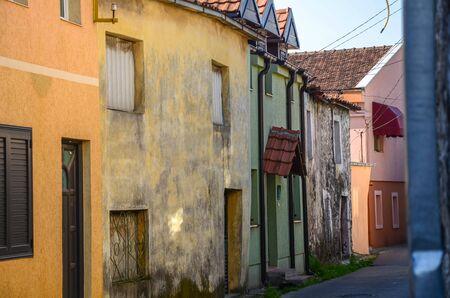 Quiet and Empty Winding Streets of Podgorica, Montenegro Stock Photo