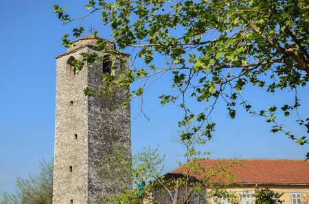 An Old Bell Tower in Podgorica, Montenegro
