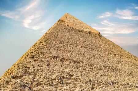 The Great Pyramid of Giza - Still Standing Wonder of the World Stock Photo