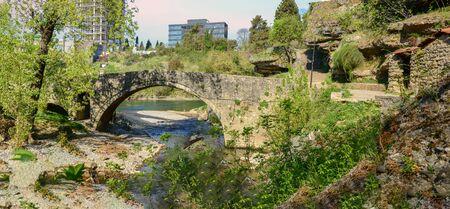 Panorama of Bridge outside of town in Podgorica, Montenegro