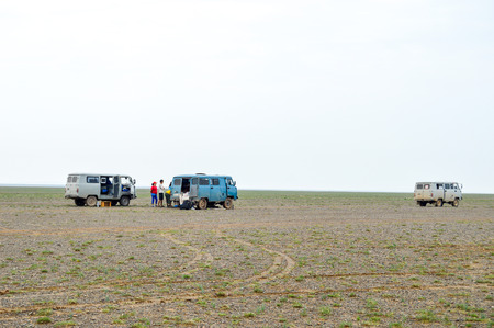 Tour Companies Use Russian Vans Almost Exclusively. The Russian Vans are the best vehicles for the rough terrain in Mongolia.