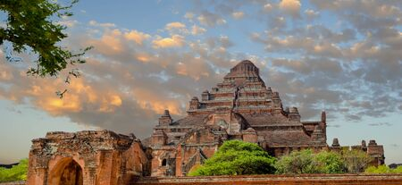 Dhammayangyi Temple Panorama with its Rounded Top is the Largest of all Temples in Bagan Stock Photo