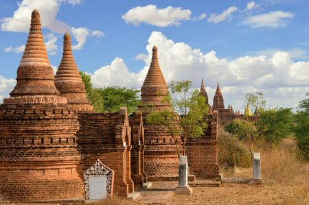 Stupas and Pagodas Lined Up Like Soldiers In Bagan, Myanmar