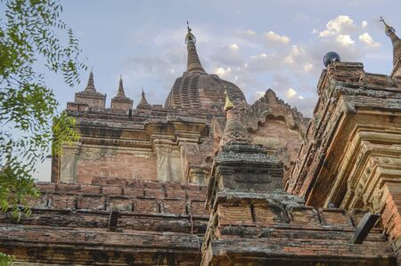 Intricate brickwork on Thambula Temple over 800 years In Bagan. The stucco details are delicate and elegant.
