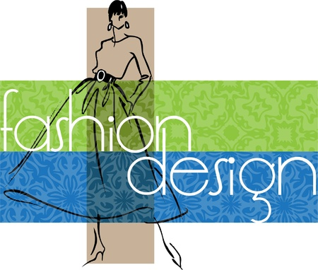 boutique display: Fashion Woman. Vector illustration Illustration