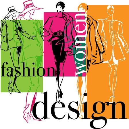 Fashion Woman. Vector illustratie