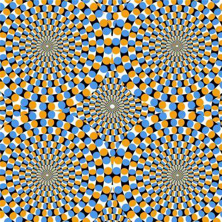arte optico: Efecto �ptico de movimiento Vectores