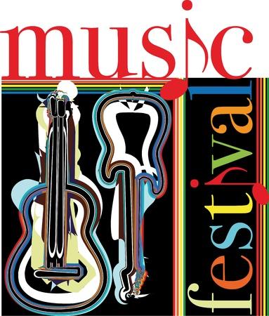 instrumental: music festival. Vector illustration Illustration