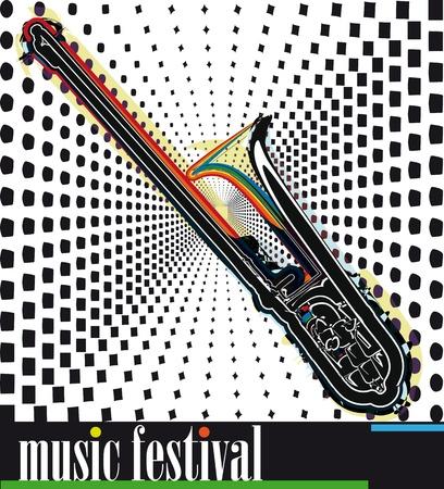 strident: music festival. Vector illustration Illustration