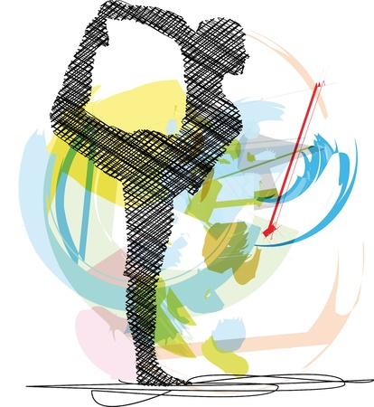 Yoga illustrazione Archivio Fotografico - 10779012