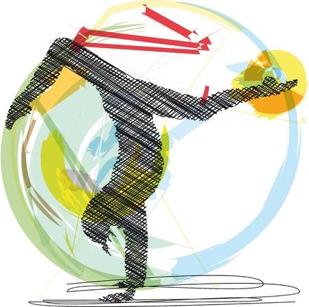 Yoga illustration Vector