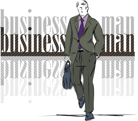 tailored: Sketch fashion & handsome business man Illustration