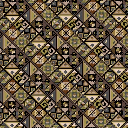 mayan culture: American culture pattern. Vector illustration