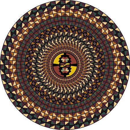 American culture pattern. Vector illustration Vector
