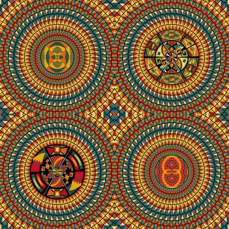 peruvian culture: American culture pattern. Vector illustration