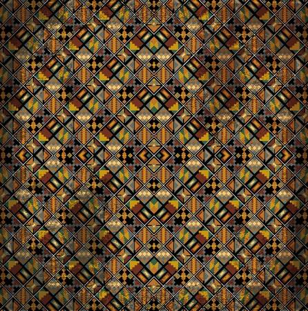 paracas: American culture pattern. Vector illustration