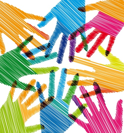 Union touch Stock Vector - 10778993