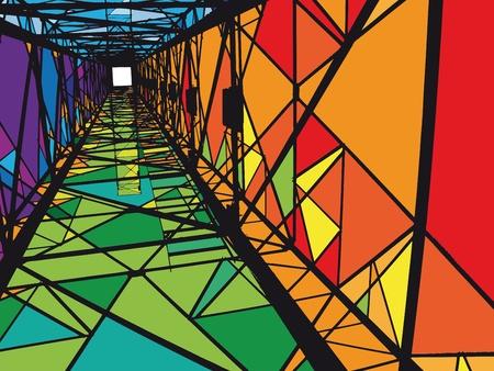 ingenieurs: Abstract elektrische toren illustratie