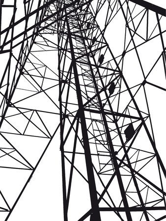 Abstract Electrical tower illustration Vector