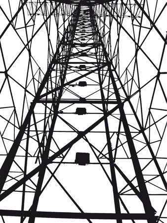 electrical tower: Abstract Electrical tower illustration Illustration