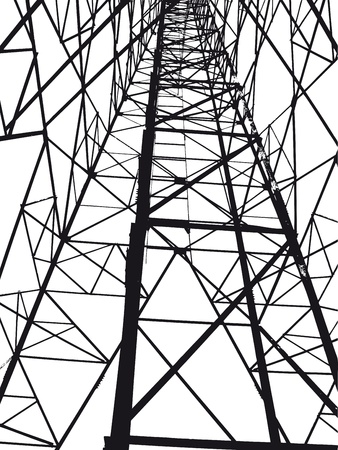 hydro electric: Abstract Electrical tower illustration Illustration