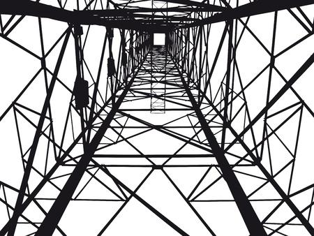 hoogspanningsmasten: Abstract elektrische toren illustratie