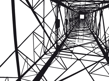below: Abstract Electrical tower illustration Illustration
