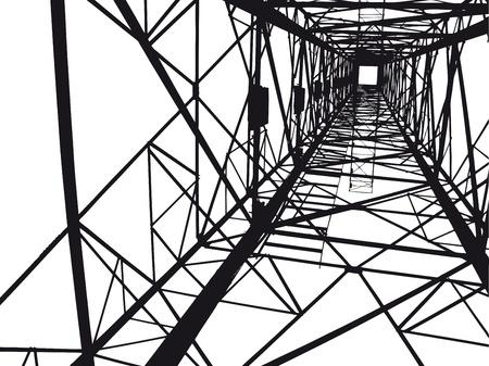 Ilustración abstracta torre eléctrica