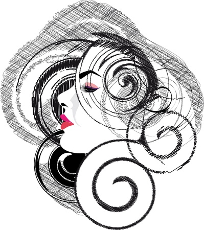 sensuality: Beautiful woman illustration