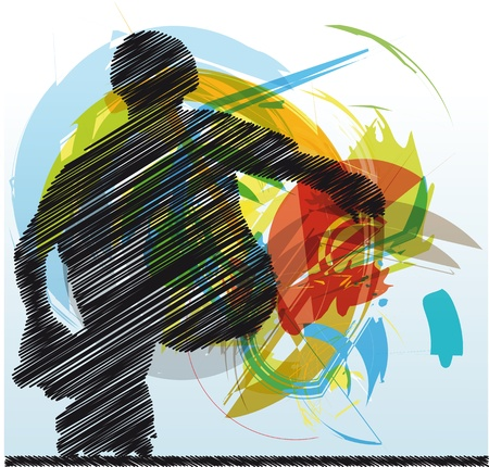 Abstract sketch of skater Stock Vector - 10779161