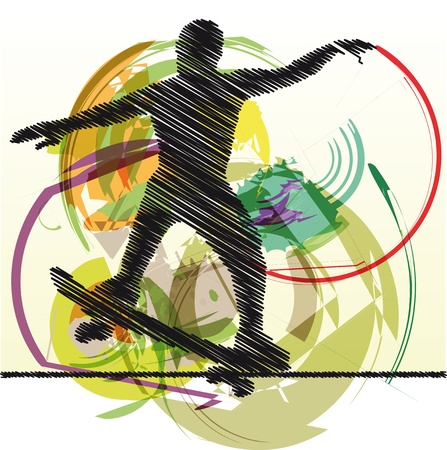 Abstract sketch of skater Stock Vector - 10779137