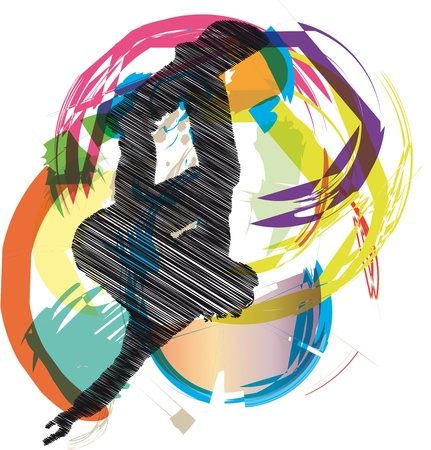 Abstract sketch of skater Stock Vector - 10779107