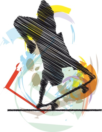 Abstract sketch of skater Stock Vector - 10779082