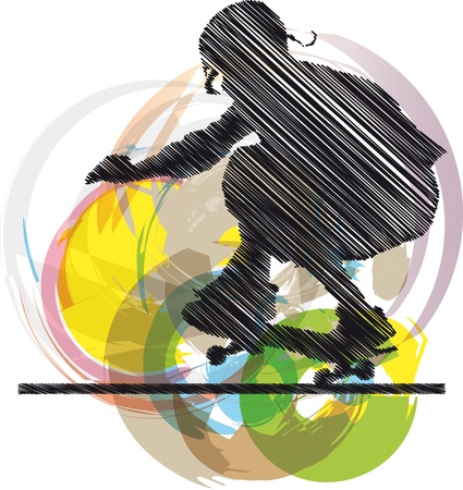 Abstract sketch of skater Stock Vector - 10779126
