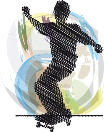 boy skater: Abstract sketch of skater Illustration