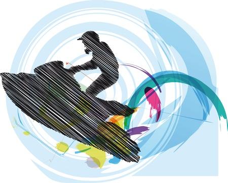 moto acuatica: Esbozo de Jetski