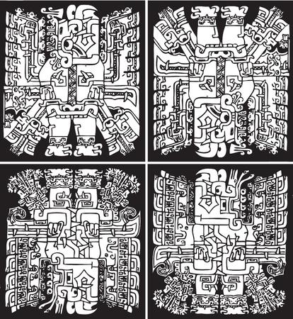 cultura maya: Antecedentes de la cultura estadounidense. Ilustraci�n vectorial