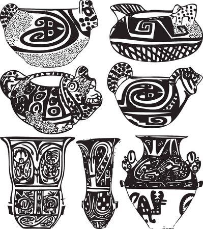 pottery: American culture icon. Vector illustration