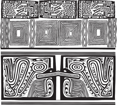 peruvian culture: American culture background. Vector illustration