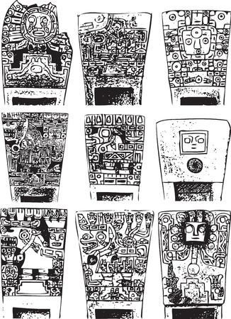 mayan culture: American culture background. Vector illustration
