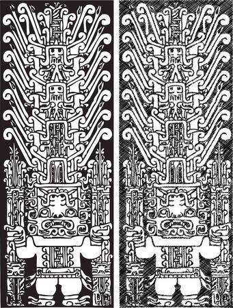 paracas: American culture background. Vector illustration