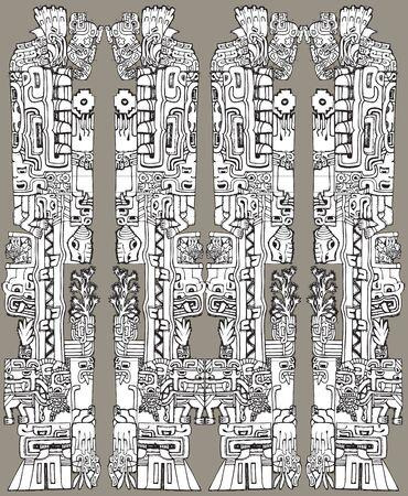 American culture background. Vector illustration Stock Vector - 10779156