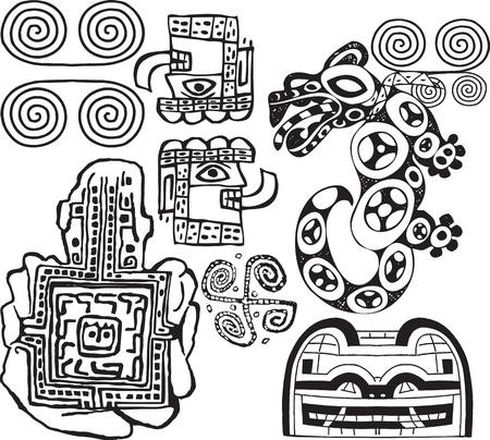 inca ruins: American culture icon. Vector illustration