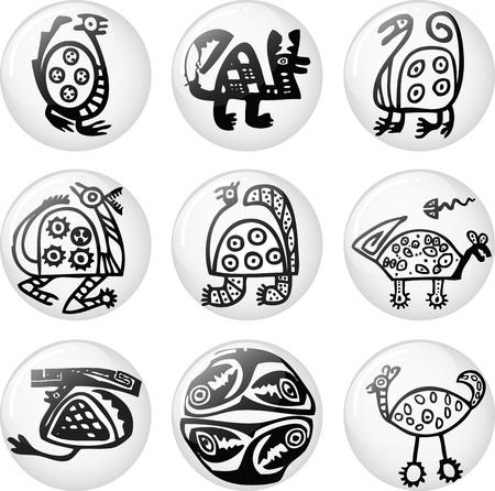 mayan culture: American culture icon. Vector illustration